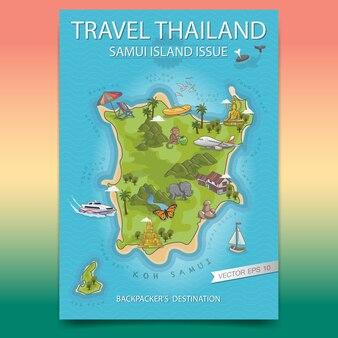 Путешествия таиланд остров самуи плакат