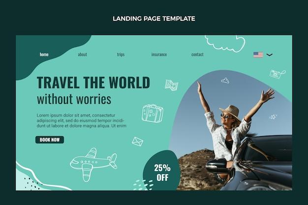세계 방문 페이지 템플릿 여행