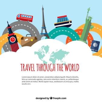 Travel through the world