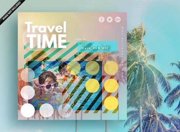 Travel time banner