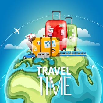 Travel time concept.