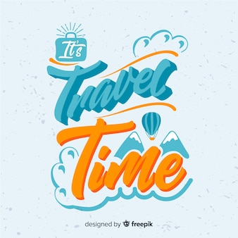 Travel time lettering