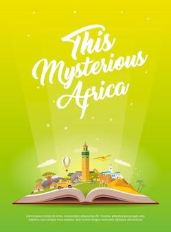 Путешествие в африку. дорожное путешествие. туризм.