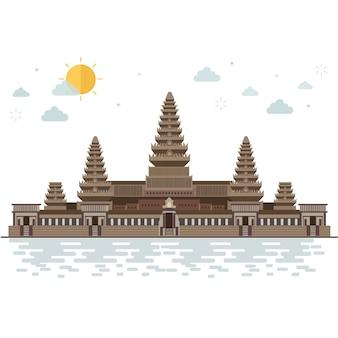 カンボジアのアンコールワットへの旅行