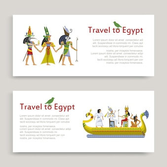 Путешествие в египет набор надписи, древний египетский узор, иллюстрация, на белом. туризм в африке, тур по пустыне, знаменитый песок, история сфинкса.