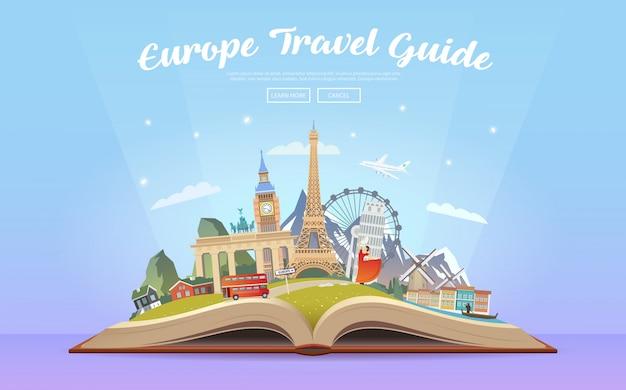 ヨーロッパへ旅行します。ロードトリップ。