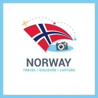 노르웨이 여행 무료 벡터