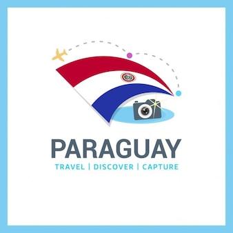 Парагвай флаг путешествия логотип