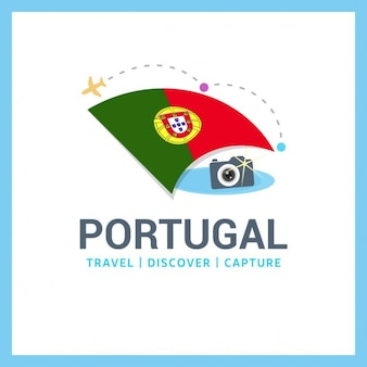 Путешествие в португалию логотип шаблона