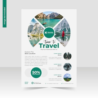 Travel and tourism agency a4 flyer template or business flyer