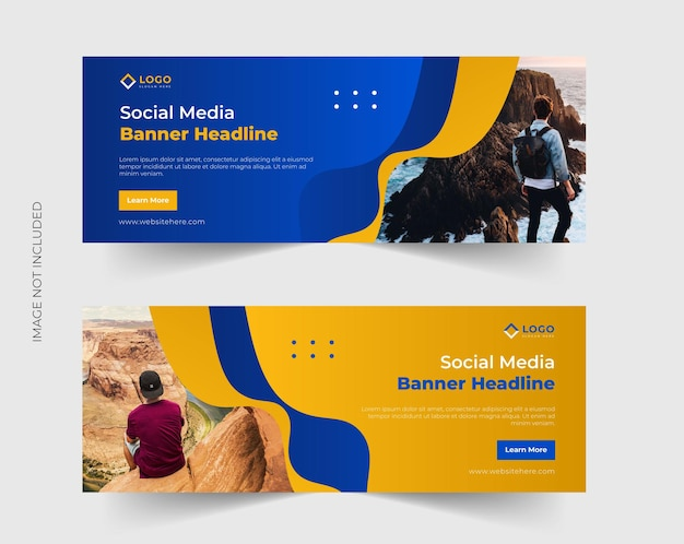 Travel and tourism facebook timeline cover or header and web banner template
