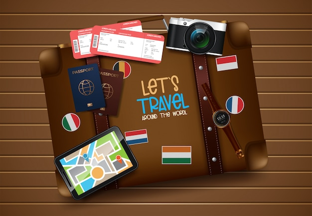 Travel and tourism illustration