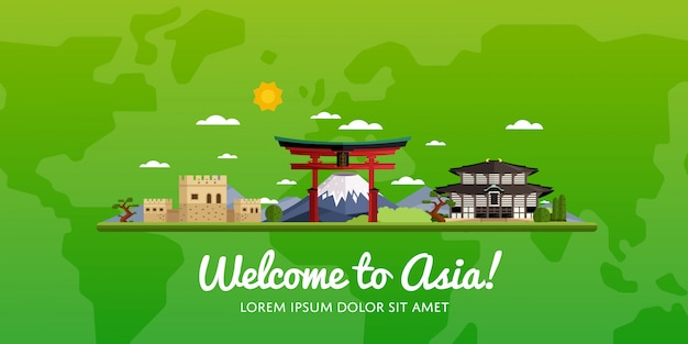 Travel and tourism vector illustration.