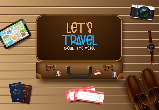 Travel and tourism vector illustration