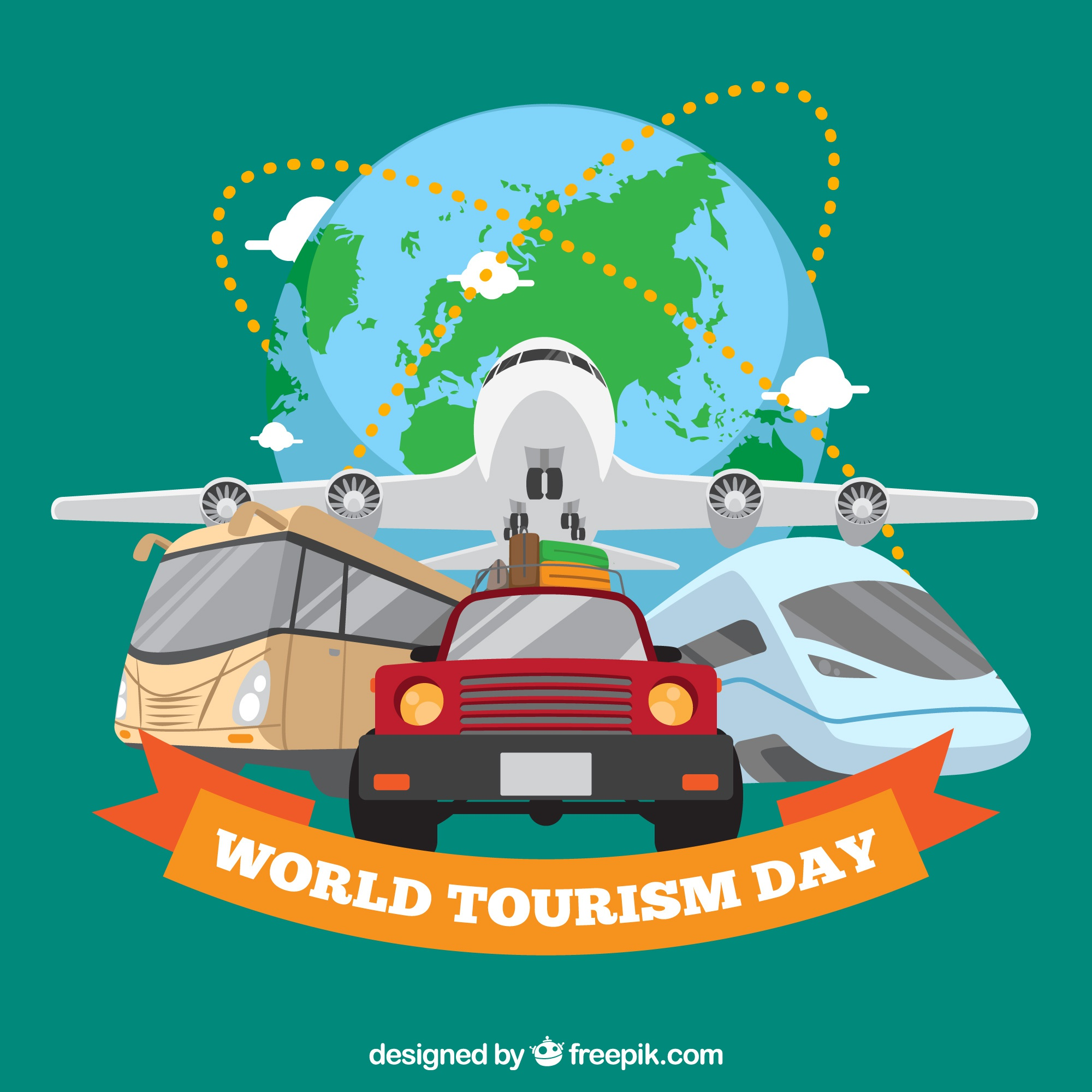 Travel transport, world tourism day