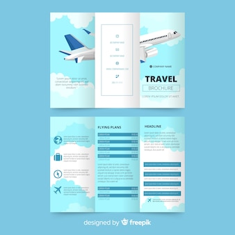 Travel trifold flyer template
