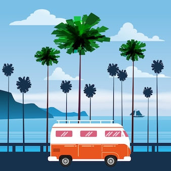 Travel, trip vector illustration