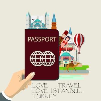 Travel turkey  infographic .