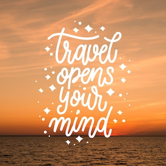 Travel typography with photo