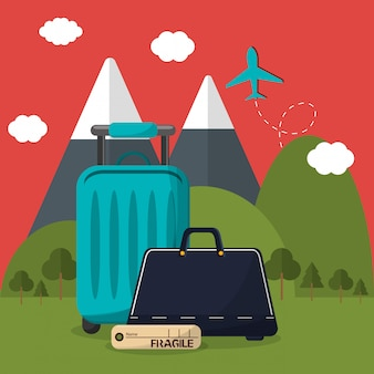 Travel vacation or holidays related icons image