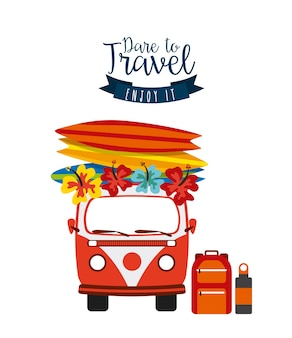 Travel vacations set collection icons