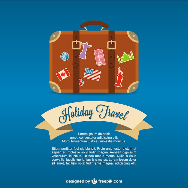 Travel valise background