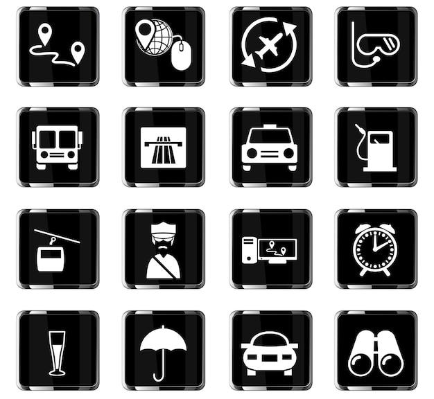 Векторные иконки путешествия для дизайна пользовательского интерфейса