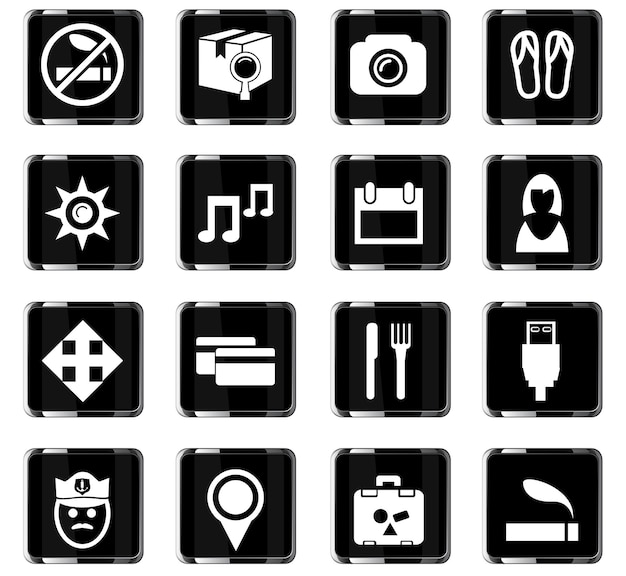 사용자 인터페이스 디자인을 위한 여행 벡터 아이콘