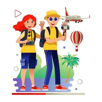 Travel video blogger tourism