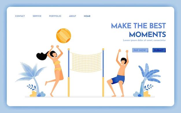 휴가 방문 페이지에서 최고의 순간을 만드는 여행 웹 사이트