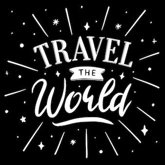 Viaggia per il mondo scritte