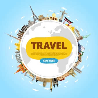 Travel the world, monument banner