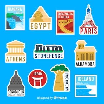 Коллекция стикеров travel