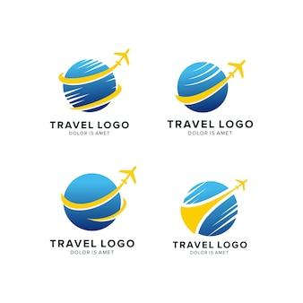Шаблон дизайна логотипа travel