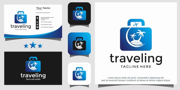 Traveler beach logo design