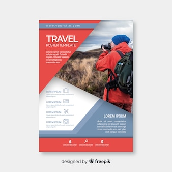 Traveler with camera flyer template
