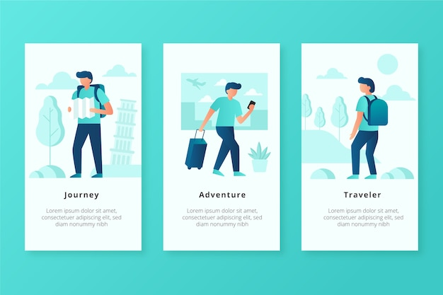 Экраны мобильного приложения traveler