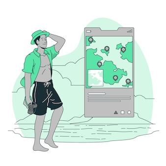 Illustrazione di concetto di viaggiatori