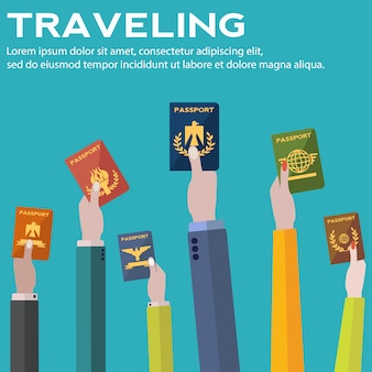 Traveling background design