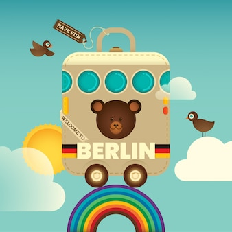 Traveling berlin background