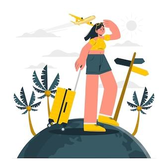Traveling concept illustration
