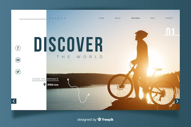 Traveling concept for landing page template