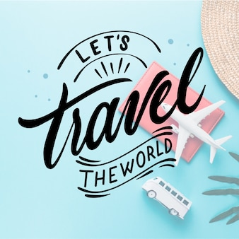 Traveling concept for lettering