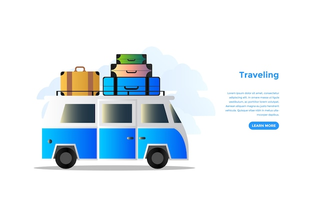 Traveling concept vector design
