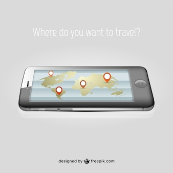 Traveling concept with Iphone