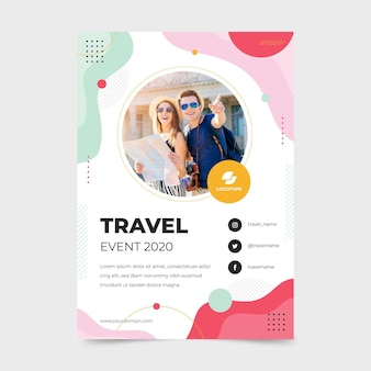 Traveling event a5 flyer template