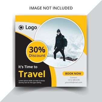 Traveling or holidays instagram post template