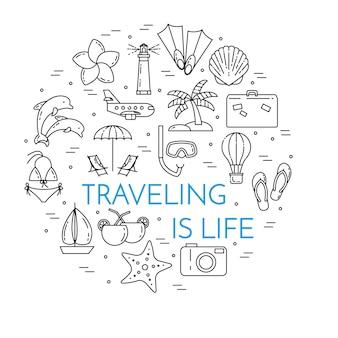 Traveling horizontal banner