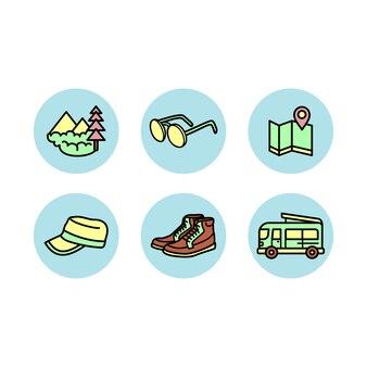 Набор иконок для путешествия