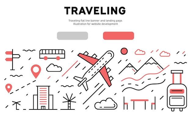 Traveling infographic